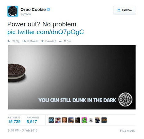 Real-time marketing Oreo